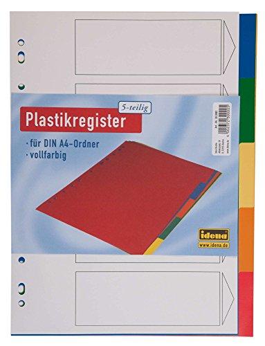 Idena 300001 A4 Plastikregister, 5-teilig