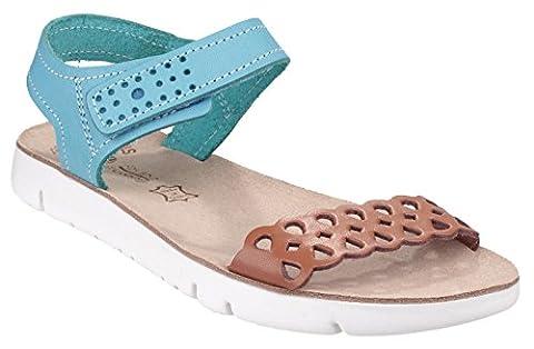 Fantsy Agios Ladies Summer Sandal Tan / Blue - 38 (Schwarze Riemchen-plattform)
