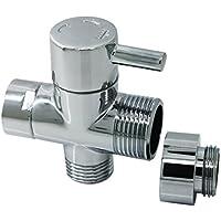 Ducha de Latón válvula de ducha desviador phoewon adaptador interruptor de ducha cromado, ducha de 3Vías divisor para baño, cocina