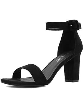 Allegra K Damen Klobiger Absatz Knöchelriemen Sandalen