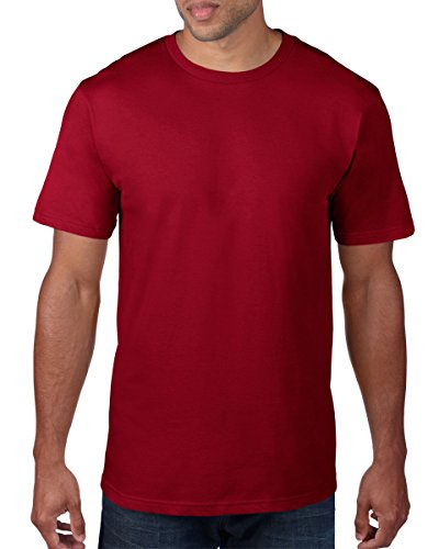 anvil Herren Organic Fashion Basic T-Shirt / 490 S,Rot - Rot (Independence Red)