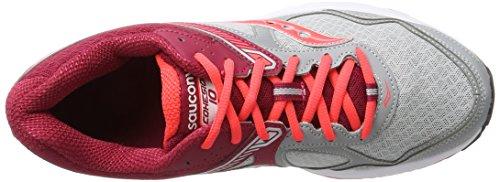 Saucony Cohesion 10, Scarpe da Running Donna Grigio (Grey/red)