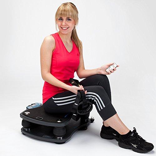 skandika Home Vibration Plate 500, Profi Vibrationsgerät, inklusive Trainingsbänder mit großer rutschsicheren Trainingsfläche, Fernbedienung und kraftvoller 3D-Vibration - 12