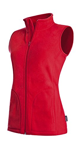 Active By Stedman Damen Fleece-Weste (M) (Rot) M,Rot