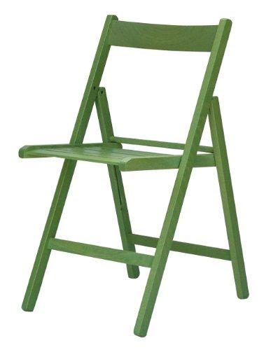 """""""Maison"""" sedia pieghevole listellare 100% FSC verde lime"""