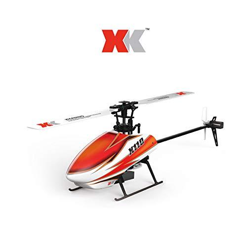 Sisit Drohne WLToy RC 3D Heli Blast K110-B 6CH 3D 6G System USB Ladegerät Brushless Motor RC Drohne perfekt für Anfänger und Fortgeschrittene