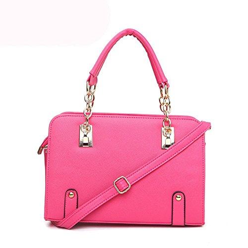 koson-man-damen-patent-leder-schultertasche-matel-staubbeutel-top-griff-handtasche-rose-pink-kmukhb0