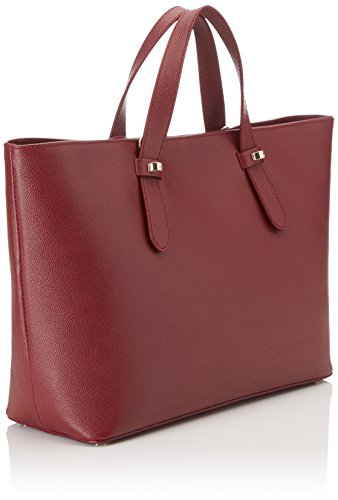 Borbonese Shopping C/T, Borsa a Spalla Donna, 33 x 25.5 x 12 cm (W x H x L) Rosso (Burgundy)