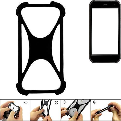K-S-Trade Handyhülle für Cyrus CS 40 Schutz Hülle Silikon Bumper Cover Case Silikoncase TPU Softcase Schutzhülle Smartphone Stoßschutz, schwarz (1x)