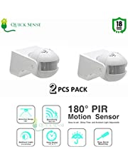 Quick sense 180` Wall-Mount PIR Motion Switch with Light