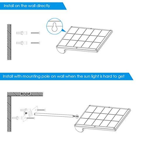 Amir 29 LED Solar Wandleuchte, 4 Modi Solarleuchten Außen, Bewegungs Sensor Licht, Wasserfest Solar Gartenleuchte mit Bewegungssensor, Solar Außenleuchte für Garten Patio, usw. (2 Stück) - 5