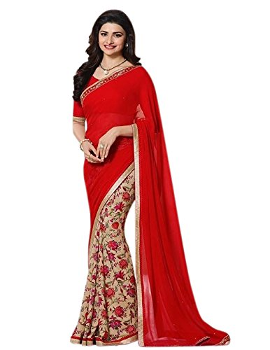 Saree Center Women's Georgette Saree With Blouse Piece Material