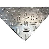 hls-tactical Aluminio Chapa de 3,5/5mm Aluminio Duett pezón Chapa estriada en damero (Rayas zuschnitt Deseos métrica Posible