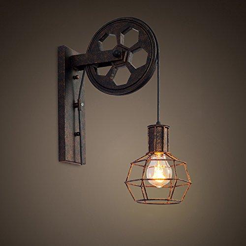 Kreative Retro Industrie-Stil Wandleuchten Loft-Stil Heben Riemenscheibe Lights Aisle Korridor Wandleuchte E27 ( Farbe : A )