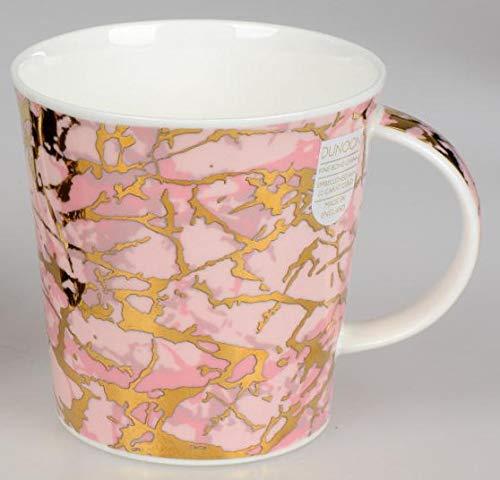 formano Edler Becher Cairngorm, H:11cm, 0,48l, Rosa mit Gold, Bone China Gold Bone China