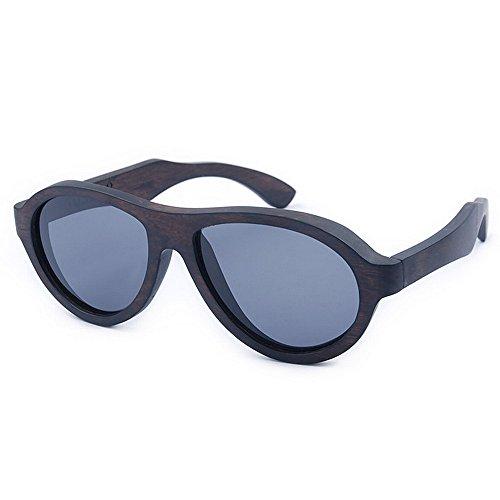 Yiph-Sunglass Sonnenbrillen Mode Herren Sonnenbrillen Cool Blue Color Herren Sport Holz Sonnenbrillen Handmade Polarized TAC Objektiv UV Schutz Fahren Angeln Strand Sonnenbrillen