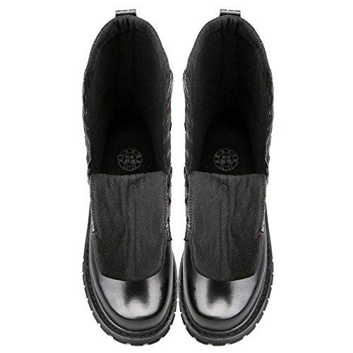 ZQ@QXL Europa e gli Stati Uniti uomini aggiungere Stivali Stivali di cotone, cotone ad alto profilo di grandi uomini stivali black-Single shoes