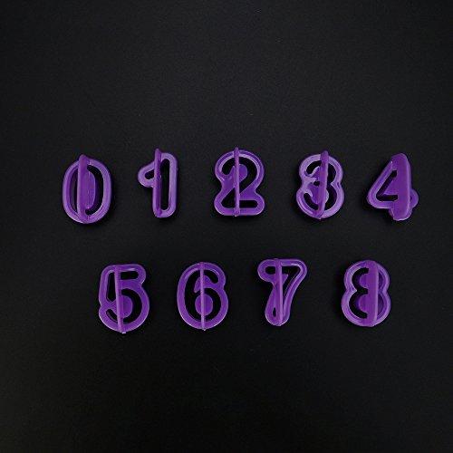 Kuchen Kochzubehör,ALIKEEY 40 Teile/Satz Icing Cutter Mould Alphabet Anzahl Buchstaben Fondant Kuchen DekorierenGeeignet für Restaurants, Familien