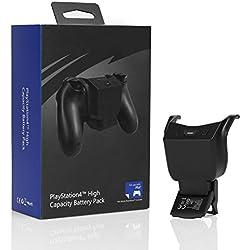 MoKo Batterie PS4, Grande Capacité 1000MA Power Bank Rechargeable Charge Intelligent Gaming Chargeur pour Manette PS4/Manette de Jeu, Noir