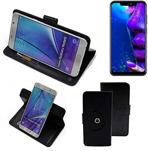 K-S-Trade® Case Schutz Hülle Für -Allview Soul X5 Pro- Handyhülle Flipcase Smartphone Cover Handy Schutz Tasche Bookstyle Walletcase Schwarz (1x)