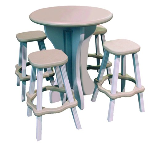 QCA Spas LAPT30G Tisch, rund, 76,2 cm, Grau -