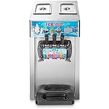 3 sabores suave helado máquina comercial Frozen Ice Cream Cones máquina ...