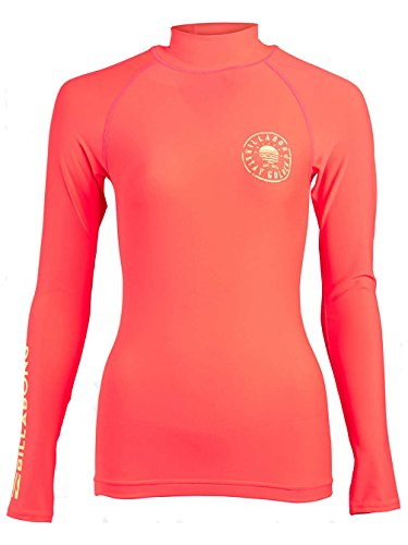 BILLABONG 2017 Ladies Logo In Long Sleeved Rash Vest in Horizon Red C4GY02 Size - - Small -