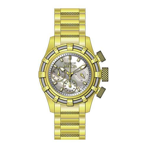 Invicta Women's Bolt Gold-Tone Steel Bracelet & Case Quartz Analog Watch 27492