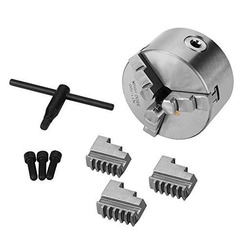 Mandril de torno autocentrante Mootea Mandril de torno metálico autocentrante de 3 mordazas con mordazas adicionales Accesorios para máquinas de torneado