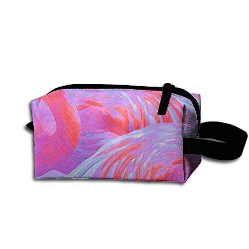 Travel Makeup Flamingo Fever in Tropical Paradise Beautiful Waterproof Cosmetic Bag Quick Makeup Bag Pencil Case -