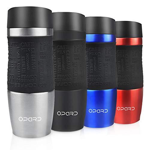 Opard Thermobecher-Travel Mug 350ml-Trinkbecher aus Edelstahl-Kaffeebecher-Thermo Becher 100% Auslaufsicher Autobecher für Heiße und Kalte
