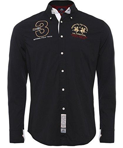 la-martina-hombres-slim-fit-shirt-de-joan-negro-m