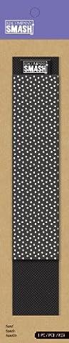 Smash Book Elastic Pen Band - Black and White Polka Dots