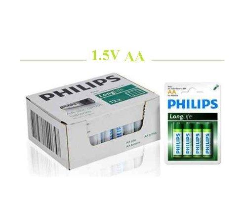 Lot de 48 Philips Piles de Zinc-Carbone \