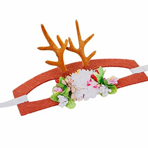 UEETEK Hund Hairband Ornamente Karneval Haarclip Geweihe Bands Weihnachten Kopfschmuck für Haustiere Größe M
