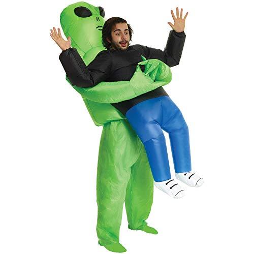 Kostüm Entführt - Alien mich abholen aufblasbares Kostüm, One Size