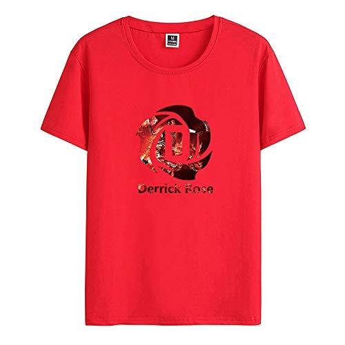 Herren T-Shirt feiner Baumwolle elastischer Rundhals Kurzarm Herren XK1275 rot S (Shirt Baumwolle Feine)