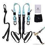 Anoopsyche Sangle de Suspension, Body Fitness Kit D'entraînement de Résistance avec Sangles Pro pour Porte, Barre de...