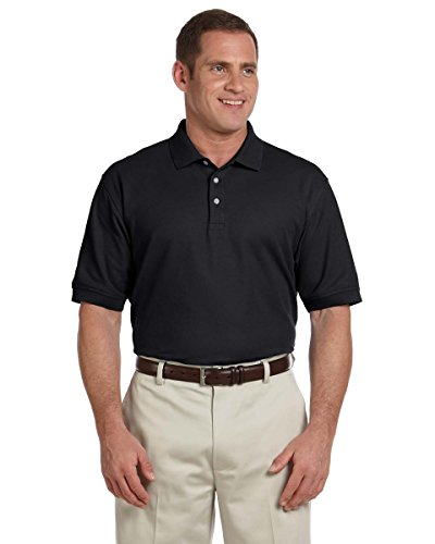 Men's Tall Pima Piqu? Short-Sleeve Polo BLACK XLT (Und Jones Herren Devon Polos)