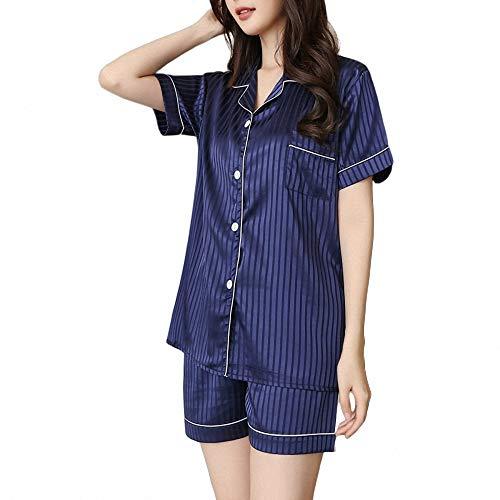 ZREED Women Comfy Pyjama, Womans Lounge Wear Damen Nachtwäsche Set LoungewearV-Neck Cardigan