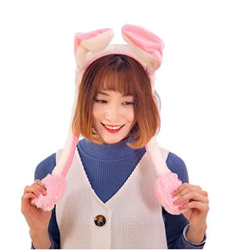Cosplay Plüsch Bewegen Springen Kaninchen-Ohr-Hut Tanzen Häschen-Ohren Kneifen Häschen-Hut Cartoon-Tier Rosa Plüschtiere Für Mädchen Bewegen