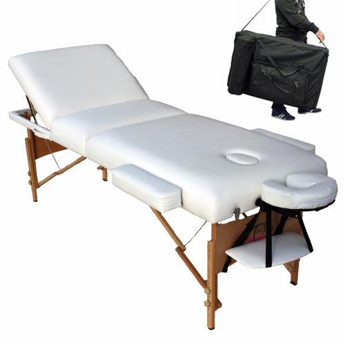 Tectake Lettino Massaggio.Tectake Lettino Massaggi 10cm Imbottitura Estetista Massaggio Portatile Bianco