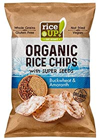 Rice Up Brown Rice Chips with Super Seeds Buckwheat & Amarnath, 60g