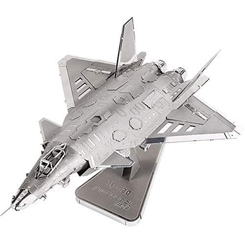 Kinder Kreativität Kämpfer 3D Stereo Metall Modell J20 Bombenflugzeuge montieren Modellflugzeug militärische Modell Dekoration Hands-on Festival gedenken Geschenk16 * 11,5 * 8,5 cm Chrysler Stereo