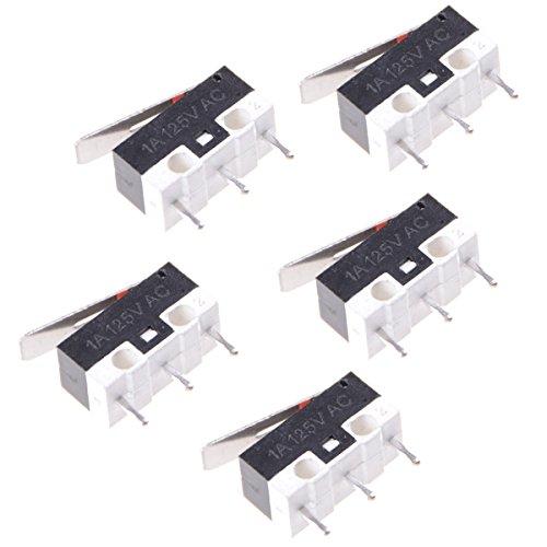 UKCOCO 5 stücke Micro Endschalter Wasserdicht Momentanen Druckschalter 3 Pins Lange Scharnier Hebel Mikroschalter (Snap-action Switch)
