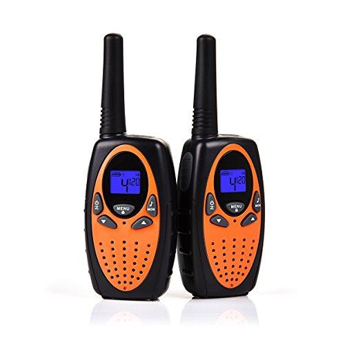 Upgrow 2X Walkie Talkies Kinder Funkgeräte Set 8 Kanäle 2-Wege Radio Walki Talki Funkhandy Interphone mit LCD Display, Kinder Speilzeug und Geschenk (Orange) (Günstige 2-wege-radios)