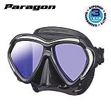 TUSA Paragon Maschera sub subacquea adulti professionale UV Filtro correzione vetri ottici compatibile - nero/argento