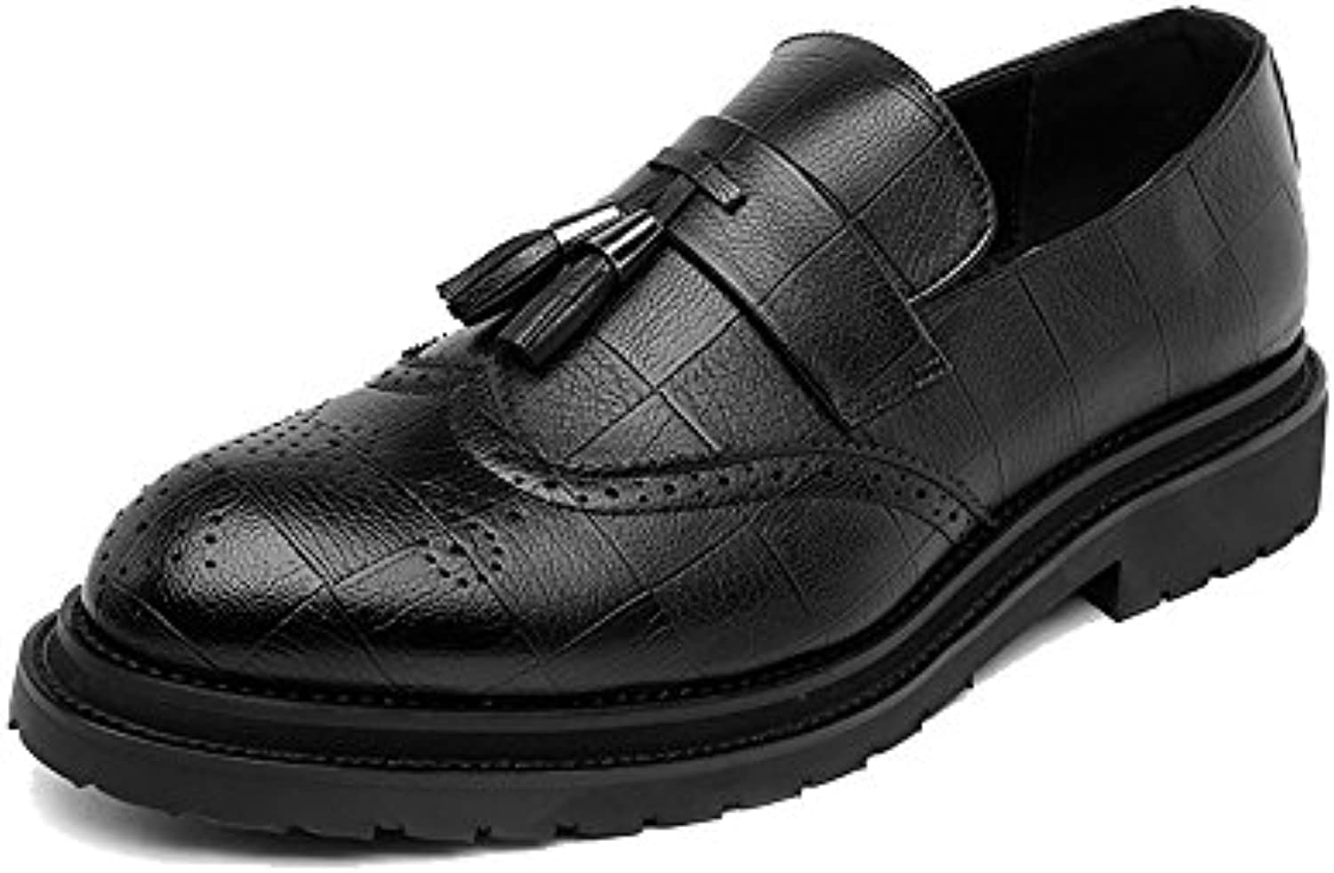 Männer Business Brogue Schuhe PU Leder oberen Quaste Anhaumlnger Slip on Wingtip Dekoration atmungsaktive Sohle Oxfords