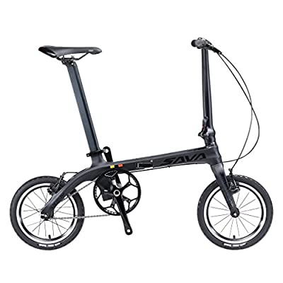 SAVADECK 14 zoll Klappfahrräder Kohlefaser Rahmen Fixed Gear Singlespeed Fixie Städtischen Track Bike Mini Stadt Faltbare Fahrrad mit scheinwerfer