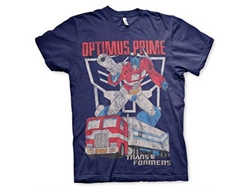 Transformers - T-Shirt - Manches Courtes - Homme -  bleu - Small